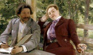 Double Portrait of Natalia Nordmann and Ilya Repin