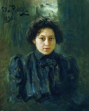 Ilya Efimovich Efimovich Repin - Portrait of the artist's daughter Nadezhda