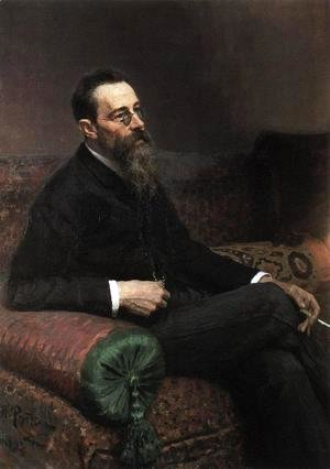 Ilya Efimovich Efimovich Repin - Portrait of the Composer Nikolay Rymsky-Korsakov