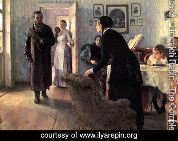 Ilya Efimovich Efimovich Repin - Unexpected Visitors (or They did not Expect Him)