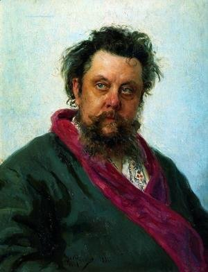Ilya Efimovich Efimovich Repin - Portrait of the Composer Modest Musorgsky