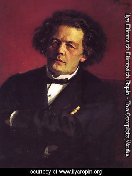 Ilya Efimovich Efimovich Repin - Portrait of the pianist, conductor, and composer, Anton Grigorievich Rubinstein