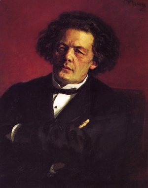 Portrait of the pianist, conductor, and composer, Anton Grigorievich Rubinstein