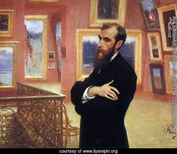 Portrait of Pavel Tretyakov (1832-98) in the Gallery, 1901