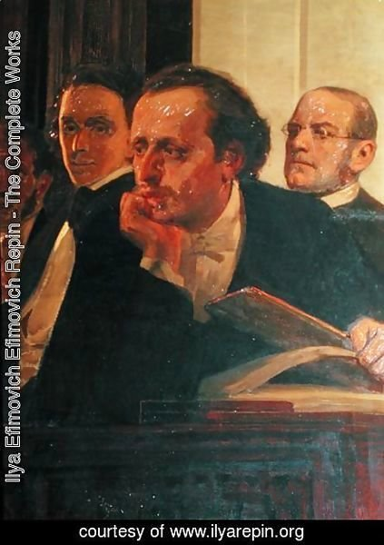 Michal Kleopas Oginski (1765-1833), Frederic Chopin (1810-49) and Stanislaw Moniuszko (1819-72), from Slavonic Composers, 1890s (detail)