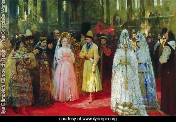 The Bride choosing of the Tsar, c.1886