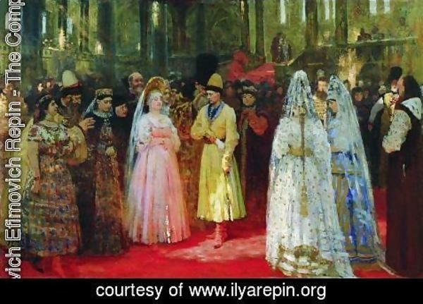 Ilya Efimovich Efimovich Repin - The Bride choosing of the Tsar, c.1886