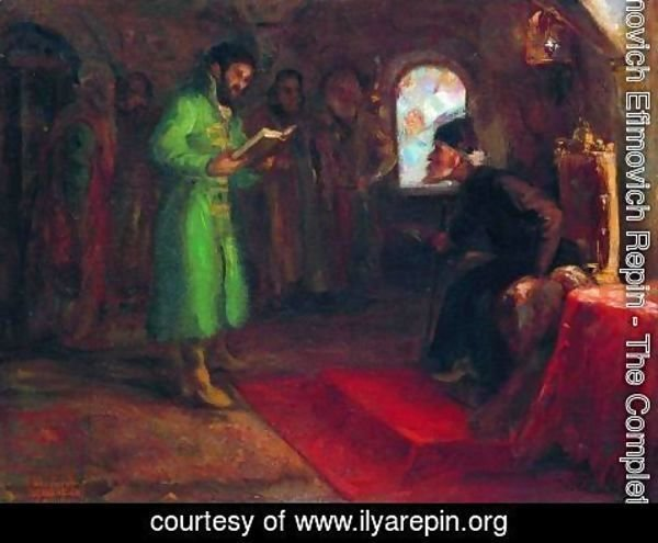 Ilya Efimovich Efimovich Repin - Boris Godunov with Ivan the Terrible