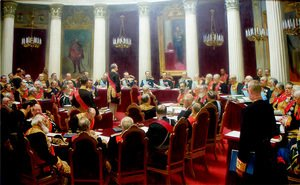Ilya Efimovich Efimovich Repin - Ceremonial session of the State Council 1900