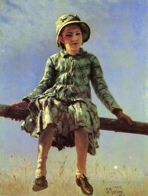 Ilya Efimovich Efimovich Repin - Painter's daughter