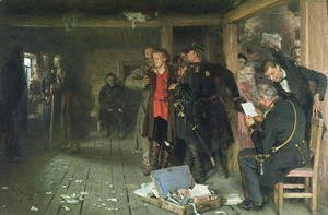 Ilya Efimovich Efimovich Repin - The Arrest of the Propagandist, 1880-89