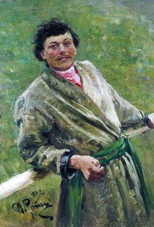 The Byelorussian, portrait of the peasant S. Shavrov, 1892