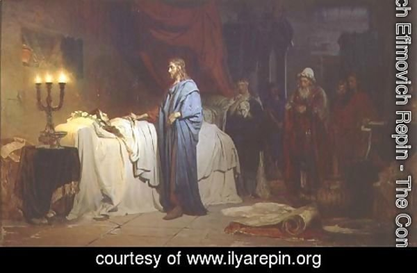 Ilya Efimovich Efimovich Repin - The Raising of Jairus's Daughter, 1871