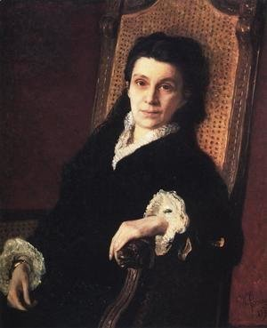 Portrait of Poliksena Stepanovna Stasova (1839-1918) wife of D.V. Stasov, 1879