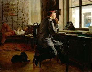 Ilya Efimovich Efimovich Repin - Preparing for Examinations, 1864