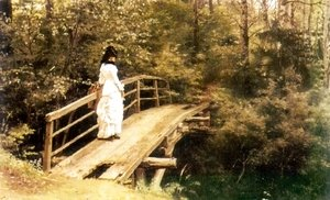 Ilya Efimovich Efimovich Repin - On a Bridge in Abramtsevo