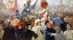 Ilya Efimovich Efimovich Repin - Demonstration on October 17, 1905