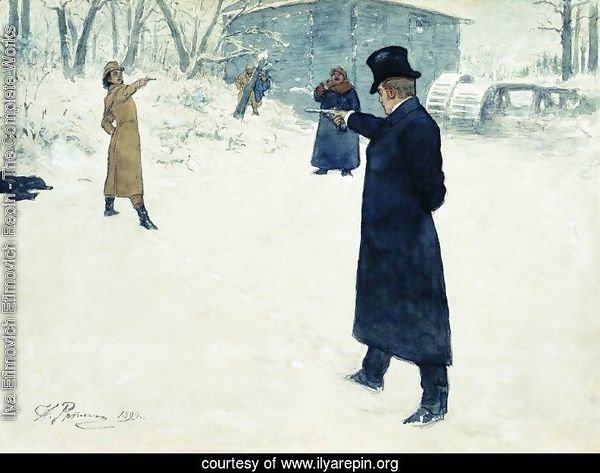 Eugene Onegin and Vladimir Lensky's duel