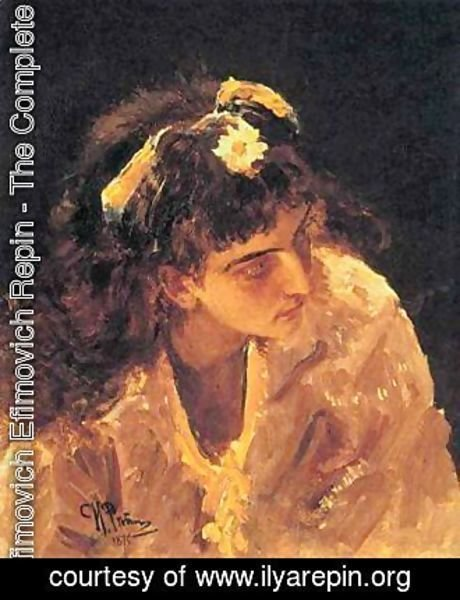 Ilya Efimovich Efimovich Repin - Female Head Etude for Picture