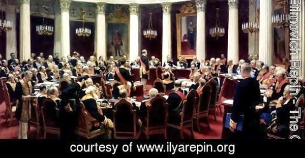 Ilya Efimovich Efimovich Repin - Formal Session of the State Council on May 7, 1901, in honour of the 100th Anniversary of Its Founding