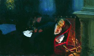 Ilya Efimovich Efimovich Repin - Gogol burning the manuscript of the second part of 'Dead Souls'