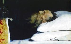 Historian Nikolai Ivanovich Kostomarov in His Coffin