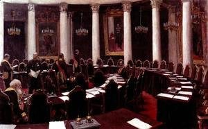 Ilya Efimovich Efimovich Repin - In the State Council Hall (Sketch for the picture Formal Session of the State Council)