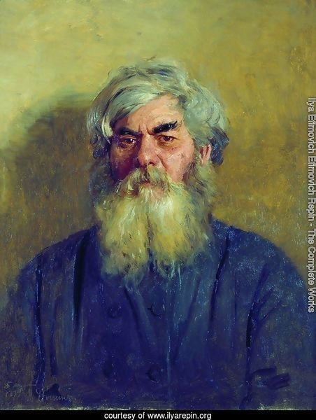 Peasant with an evil eye. Portrait of I. F. Radov, the artist's godfather