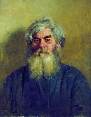 Ilya Efimovich Efimovich Repin - Peasant with an evil eye. Portrait of I. F. Radov, the artist's godfather