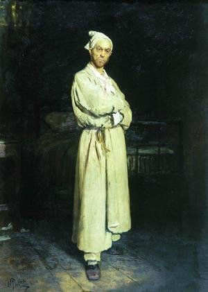 Ilya Efimovich Efimovich Repin - Poprishchin (protagonist of the novel by Nikolai Vasilievich Gogol 'Diary of a Madman')