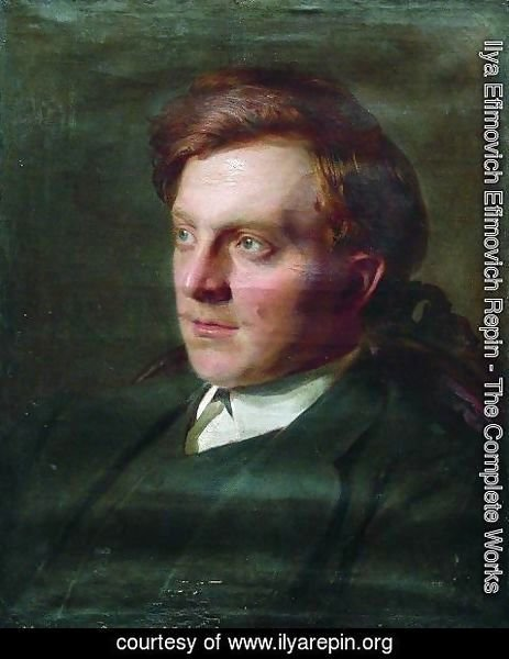 Ilya Efimovich Efimovich Repin - Portrait of Ivan Timofeevich Savenkov in his St. Petersburg university student years