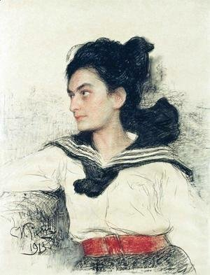Portrait of Maria Osipovna Lowenfeld, daughter of art collector O. D. Lowenfeld