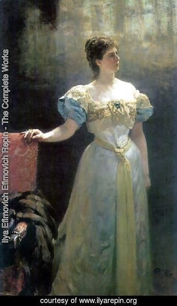 Ilya Efimovich Efimovich Repin - Portrait of Princess Maria Klavdievna Tenisheva, patroness of the arts, philanthropist and enamel artist