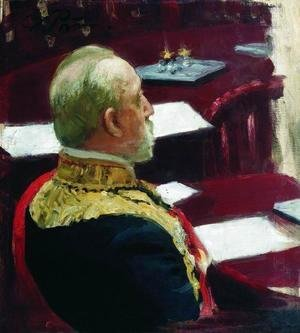 Ilya Efimovich Efimovich Repin - Portrait of Secretary of State, general and member of State Council Mikhail Nikolayevich Galkin-Vraskoi