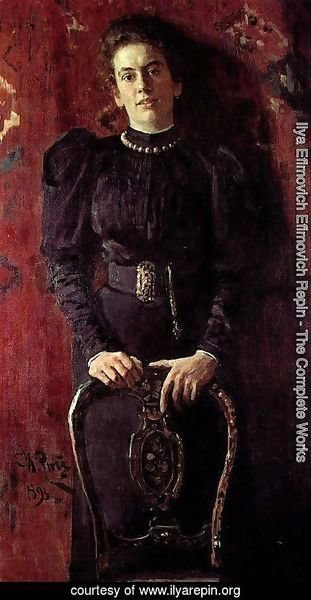 Ilya Efimovich Efimovich Repin - Portrait of Tatiana Lvovna Tolstaya, daughter of the writer