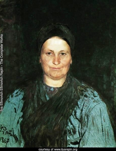 Portrait of Tatyana Stepanovna Repina, the artist's mother