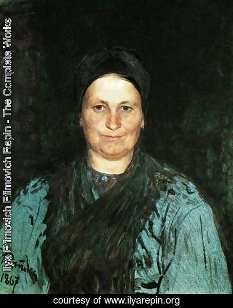 Ilya Efimovich Efimovich Repin - Portrait of Tatyana Stepanovna Repina, the artist's mother