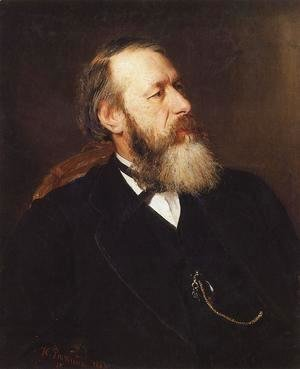 Ilya Efimovich Efimovich Repin - Portrait of Vladimir Vasilievich Stasov, Russian art historian and music critic