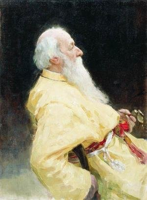 Ilya Efimovich Efimovich Repin - Portrait of Vladimir Vasilievich Stasov, Russian art historian and music critic 2