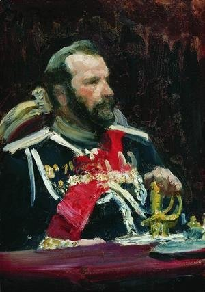 Ilya Efimovich Efimovich Repin - Portrait of War Minister, infantry general and member of State Council State Aleksei Nikolayevich Kuropatkin