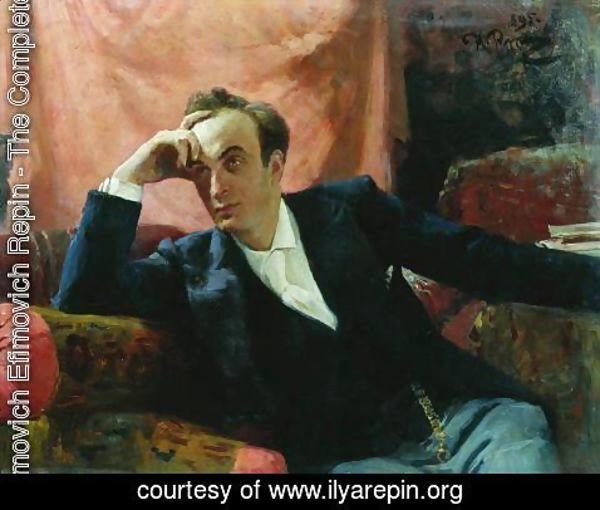 Ilya Efimovich Efimovich Repin - Portrait of actor and dramatist Grigory Grigorievich Ghe