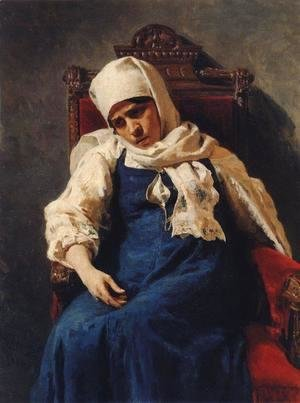 Portrait of actress Pelageya Antipevna Strepetova in the role of Elizabeth