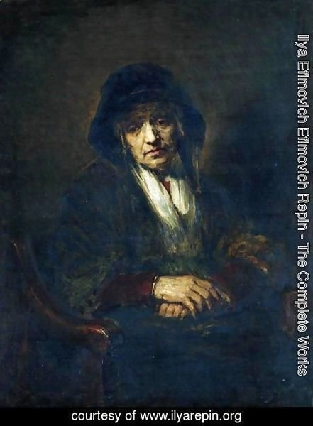 Ilya Efimovich Efimovich Repin - Portrait of an old woman