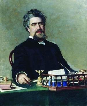 Ilya Efimovich Efimovich Repin - Portrait of engineer Ivan Yefgrafovich Adadurov, chairman of the Ryazan-Uralsk Railway Company from 1869 to 1884 an