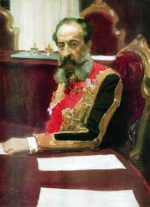 Portrait of member of State Council and Grand Chamberlain, Prince Mikhail Sergeyevich Volkonsky
