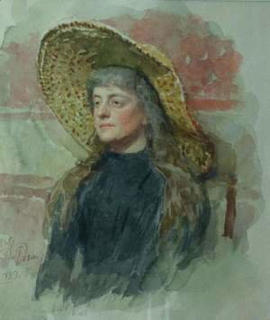 Portrait of painter Elizabeta Nikolayevna Zvantseva