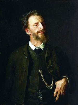Portrait of painter Grigory Grigoryevich Myasoyedov