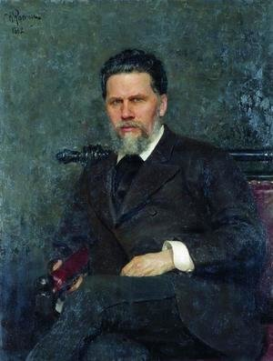 Portrait of painter Ivan Nikolayevich Kramskoi