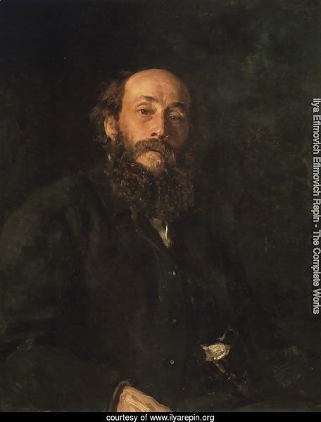 Portrait of painter Nikolai Nikolayevich Ghe