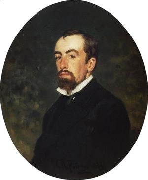 Ilya Efimovich Efimovich Repin - Portrait of painter Vasily Dmitrievich Polenov